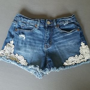 Distressed Aeropostale high waisted shorties